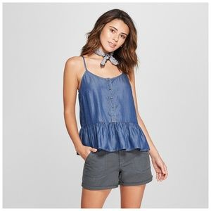 Women's Drop Waist Denim Tank - Universal Thread